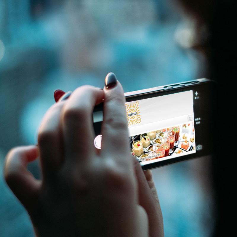 auszeit-dus.de | Webpräsenz – Cateringunternehmen