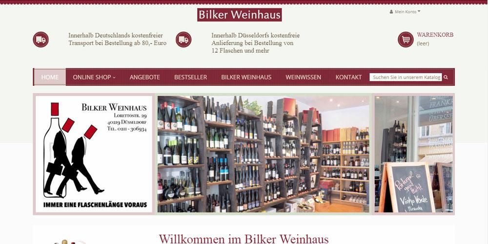 Launch des Webshops Bilker Weinhaus
